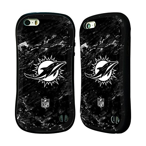 Miami Dolphins Football Case (Official NFL Marble 2017/18 Miami Dolphins Hybrid Case for Apple iPhone 5 / 5s / SE)