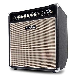 Rocktile BA-50 Lemmy Basscombo (50 Watt, Kickback-Gehäuse, 12″ Speaker, mit Effektschleife und Limiter) schwarz
