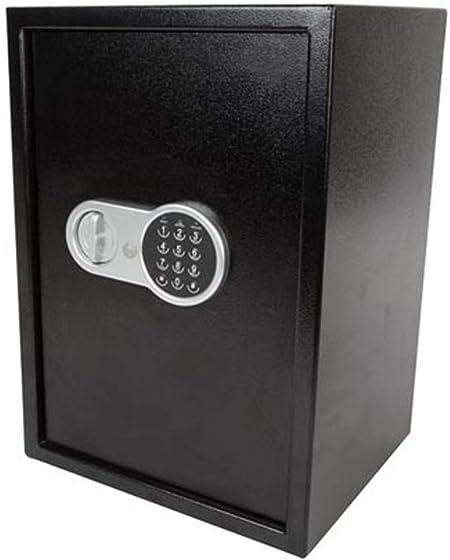 Caja Fuerte electrónica, Color Negro, con código numérico, 2 Compartimentos, 35 x 31 x 50 cm, Perla: Amazon.es: Bricolaje y herramientas