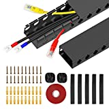 Updated Cable Raceway Kit, 31 inch Open Slot Wire