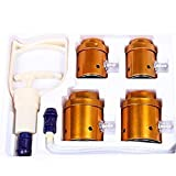Zinnor 4 Cups Slimming Vacuum Therapy Massage Acupuncture High Effectiveness Cellulite Cupping Set for Lymphatic Drainage and Natural Pain Relief