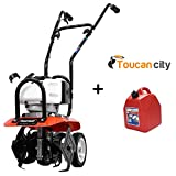 Powermate 10 in. 43cc Gas 2-Cycle Cultivator PCV43 and Toucan City 5 Gal. Gas Can EPA and CARB