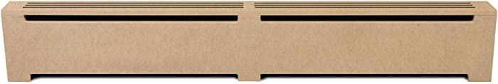 KIT for DIY, Unfinished Wooden Baseboard Heat Cover,Radiator Covers Choose Size and Material