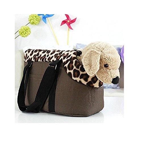 WINOMO Borsa Viaggio di Gatto Cane Cucciolo Pet Carrier - Taglia S (Caffè)