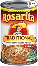 Rosarita Traditional Refried Beans 16 - 16 oz. Cans