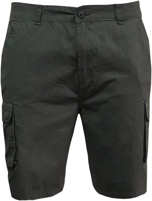 mens cargo shorts zip pocket