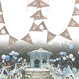 Banner Birthday Jute Decoration Wedding Jute Rope Flax Triangular Birthday Party Linen Words Pennant Flag Banner Wedding Home Decor Event Supplies Burlap
