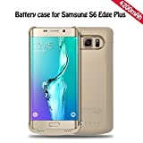 REDGO Charger Battery Case Compatible with Samsung Galaxy S6 Edge Plus, 4200 mah S6 Edge+ Ultra Slim Rechargeable Portable External Backup Battery Pack Charger Protective Cover Case Power Bank, Gold