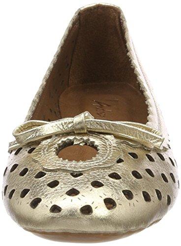 Andrea Closed Flats Gold Gold Toe Conti 095 0025822 Ballet Women's UpxrU6