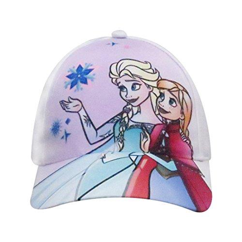 Disney Frozen Girls Elsa and Anna Characters Baseball Cap - 100% Cotton ()
