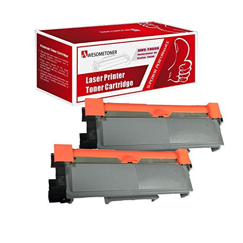 2 Pack Awesometoner New Compatible TN660 TN-660 TN630 TN-630 Toner Cartridge Replacement for Brother DCP-L2520DW high Yield of 2,600 Pages