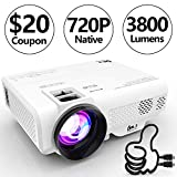 DR. J Professional 3800L [Native 1280x720] Portable Video Projector Full HD 1080P Supported Mini Projector