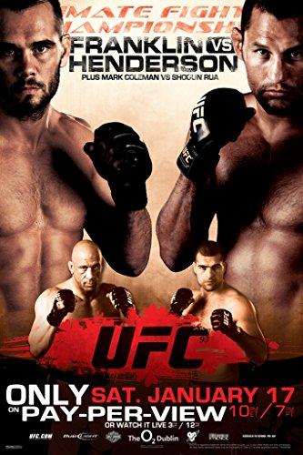 Pyramid America Official UFC 93 Rich Franklin vs Dan Henderson Sports Poster 12x18 inch