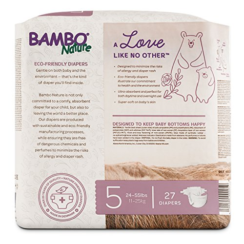 Bambo Nature Eco Friendly Premium Baby Diapers for Sensitive Skin, Size 5 (24-55 lbs), 162 Count (6 Packs of 27) by Bambo Nature (Image #4)