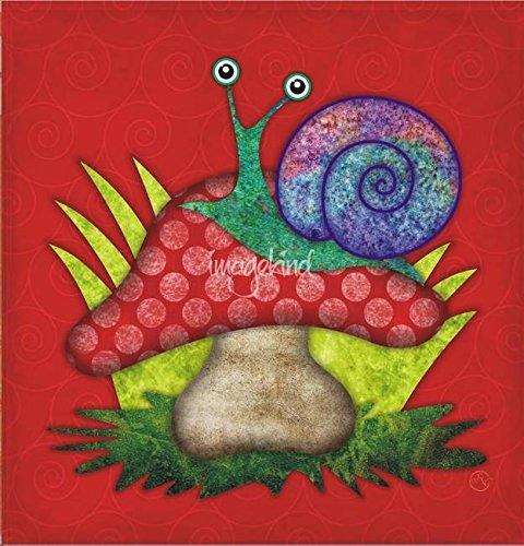 (Imagekind Wall Art Print entitled Simon The Snail by SANDRA VARGAS | 11 x 11)