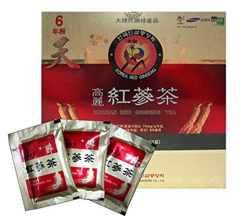 Korean Red Ginseng Tea 3g x 50 Packets Korean Ginseng Tea Made in Korea - 6 Year Roots