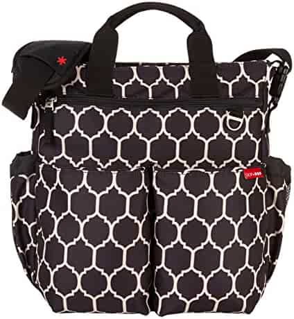 Skip Hop Duo Signature Diaper Bag with Portable Changing Mat, Onyx Tile