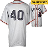 Madison Bumgarner San Francisco Giants Autographed Throwback Game Used Jersey with GU 14 Inscription - Fanatics Authentic Certified