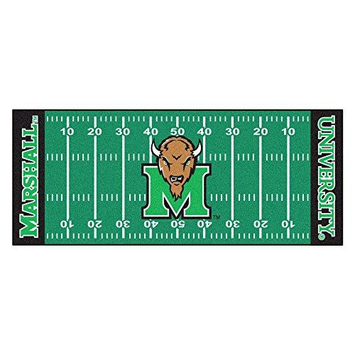 FANMATS NCAA Marshall University Thundering Herd Nylon Face Football Field Runner ()