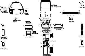 Rvinyl Rdash Dash Kit Decal Trim for Lexus is 2006-2008 Aluminum Brushed Black