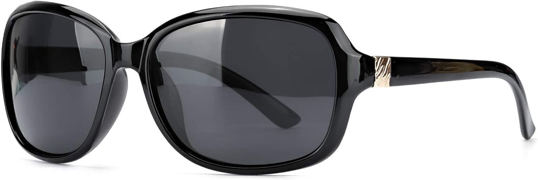 SIPHEW Oversized Polarized Sunglasses for Women, Classic Design Eyewear with 100% UV Protection Sun Glasses