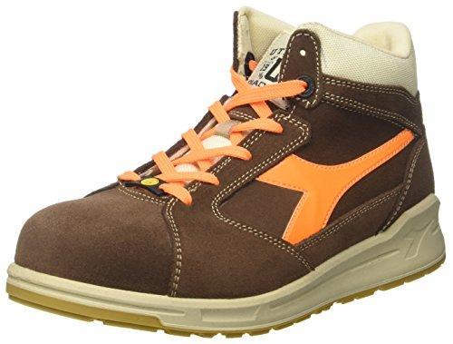 Diadora D-Jump Hi S3 Esd, Zapatos de Trabajo Unisex Adulto Marrón (Marrone Caffe/arancio Flame)