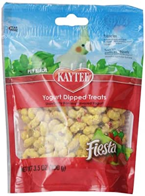 Kaytee Fiesta Strawberry/Banana Flavor Yogurt Dipped Treat for All Pet Birds, 3.5-oz bag from Kaytee
