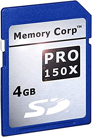 Memory Corp 4 GB PRO X SecureDigital Card (SDC) X150 4GB SD ...