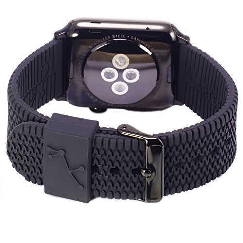 Carterjett Compatible Apple Watch Band Black 42mm 44mm