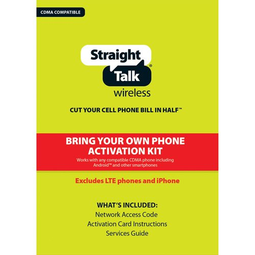 Straight Talk Bring Your Own Phone CDMA Activation Kit for Verizon 3g CDMA phones (iPhone and 4g LTE Devices Not Supported)