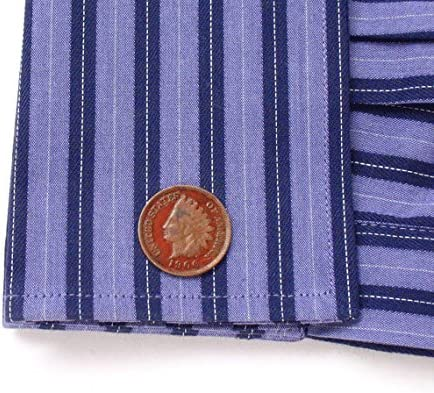 Red Indian Head Penny Cufflinks Cuff Links Coin Money Finance Old West Native American