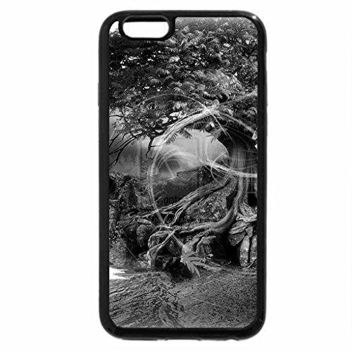 iPhone 6S Plus Case, iPhone 6 Plus Case (Black & White) - Aurora in the Autumn