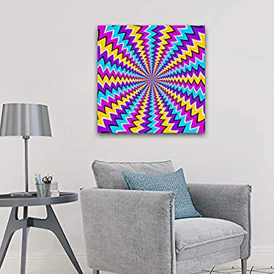 Canvas Wall Art for Living Room,Bedroom Home Artwork Paintings Visual Illusion Ready to Hang - 12x12 inches