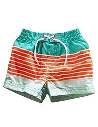 Boys Swim Trunks Striped Beach Swimwear Swim Shorts