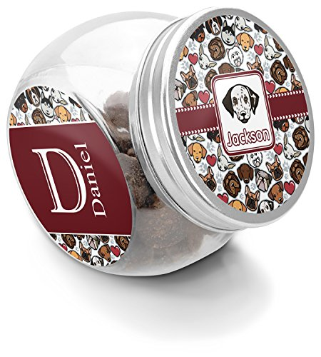 - RNK Shops Dog Faces Puppy Treat Jar (Personalized)