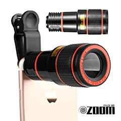 Flux HD Zoom High Performance Lens Features:  • Brand new and high quality construction.  • High quality aluminum shell, light and pretty design, easy to carry.  • Clip-on design, for ease and stability.  • Helps you easily enjoy the world of...