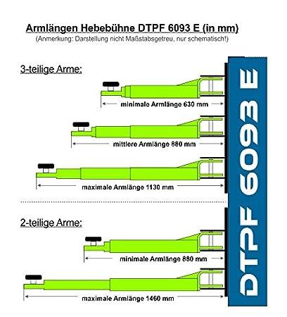 2-Säulen-Hebebühne DTPF 6093 E 4 Tonnen 220 Volt: Amazon.de: Auto