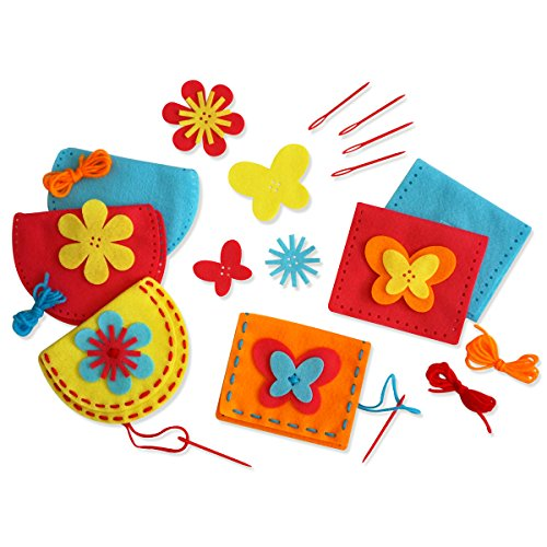 Serabeena Sew Your Own Purses - Easy and Fun to Do Sewing Kit for Girls