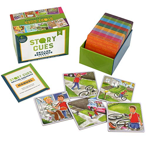 SkillEase Story Cues Skilled Sequence Cards a Speech Therapy Game for Critical Thinking Skills, Social Skills and Problem Solving (Problem Solving Questions For Adults Speech Therapy)