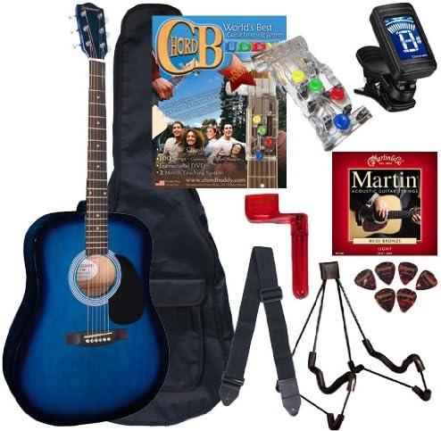 Chord Buddy guitarra acústica Paquete de principiante con tamaño ...
