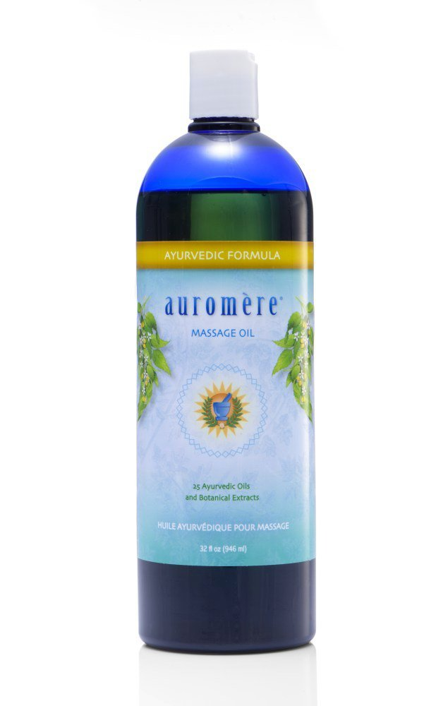 Auromere Ayurvedic Massage Oil, Sesame Oil with Herbs and Minerals, 32 fl oz