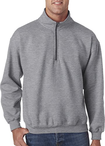 - Gildan - Heavy Blend Vintage Quarter-Zip Cadet Collar Sweatshirt - 18800-Sport Grey-L
