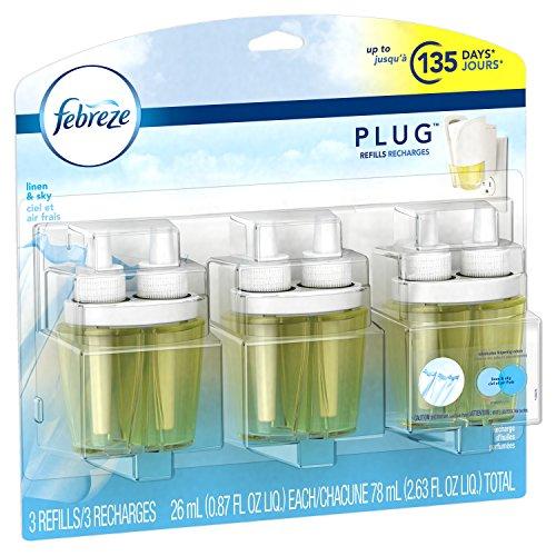 Febreze Plug Air Freshener Refills Linen Amp Sky 3 Count 2
