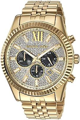 Michael Kors Men's Lexington Gold-Tone Watch MK8494 by Michael Kors Watches