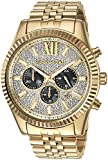 Image of Michael Kors Men's Lexington Gold-Tone Watch MK8494