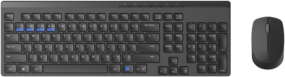 SELCNG Wireless Bluetooth Keyboard and Mouse Set Three-Mode Mute Keyboard-Black