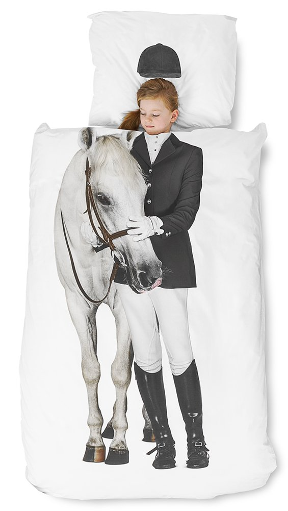 Equestrian Duvet Cover and Pillowcase Set for Kids by SNURK - Twin by Snurk