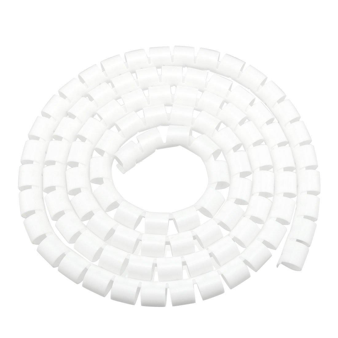 sourcing map 2pcs 18mm Tube Flexible c/âble spirale enveloppant g/érer ordinateur noir Cordon 3.5-4M