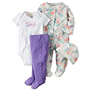 Carter's Baby Girls' 4 Piece Layette Set (Baby) - Daddy's Sweet Girl-3M