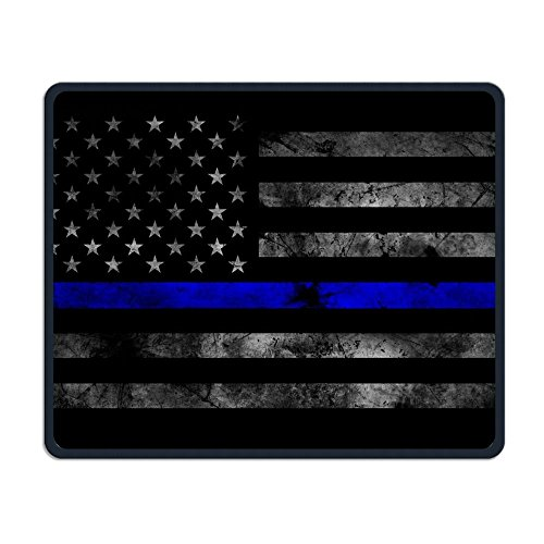 Wireless Mouse Pad, Blue Thin Line Us Flag Mouse Pads, Mobile Cute Comfort Soft Mouse Pad Mat For Women Men At Home Or Work Fathers Day Gifts -